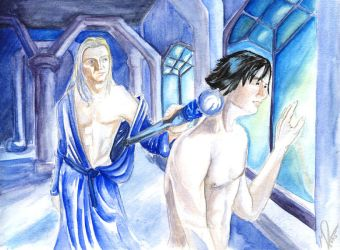 Lucius/Harry, sort of, PG-13 by carthasis