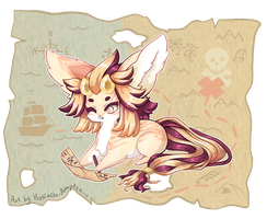Starfall Faire Elnin prompt: Treasure Map! by Yoshimiko-Adopts