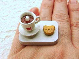 Coffee And Cookie Ring by souzoucreations