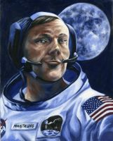 Neil Armstrong by LaPointeVArt