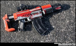 Borderlands 2 inspired Nerf Alpha Trooper by JohnsonArmsProps