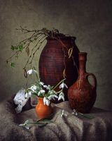 Still life with snowdrops by Daykiney