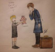 Drapion and Newt Scamander with the igglybuff by MoonieArt