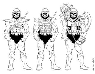 Skeletor variants by NathanKroll