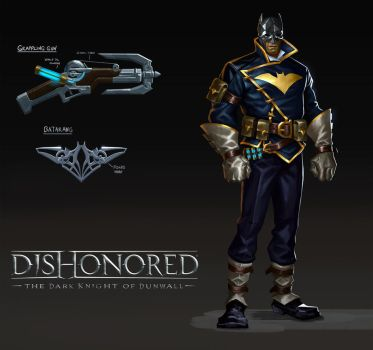 Dishonored Batman FanArt by mercikos