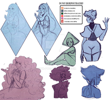 Steven Universe    Collab Sketches Dump by H0nk-png