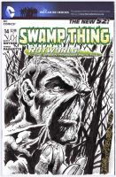 SWAMP THING Original SKETCH COVER Art HAZLEWOOD by DRHazlewood