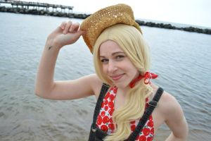 Applejack at the beach 6 by shelle-chii