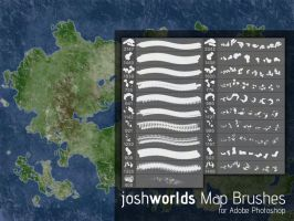 Map/Land Mass Brushes by JoshWorlds by JoshWorlds