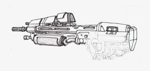 MA37 ICWS Assault Rifle by Flyntendo