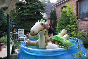 inflatable dragon ride by schorse1000