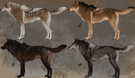 Wolf Designs for Sale by TheSodaSmuggler