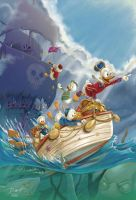 Clear Sailin'! Ducktales + Carl Barks tribute! by PaulRomanMartinez