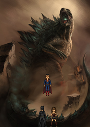 Trinity vs. Godzilla by Z-Lord