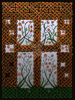Decorative Celtic Knot Daisy Panel by LorraineKelly
