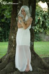 Stock woman in white dress 01 by clair0bscur