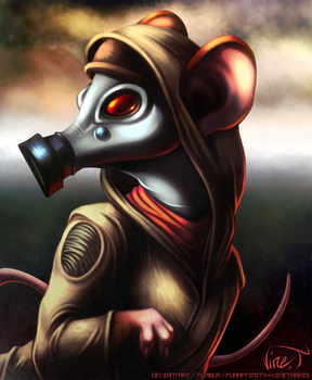 Post Apocalyptic Mouse by VineTabris