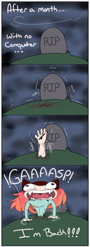 Back from the grave! by RedVoodooCat