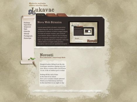 weird web page layout by frostmaster