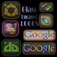 Glass Encased Logos psd by manoluv