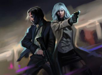 John Wick and  Atomic Blonde by ManFr0mNowhere