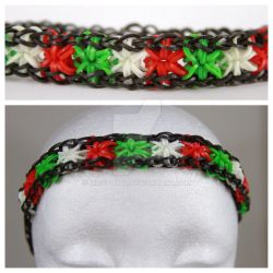Starburst Rainbow Loom Headband Christmas by MissTopaz