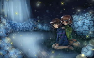 UnderTale  Frisk and Chara + Speedpaint by KasugaBee