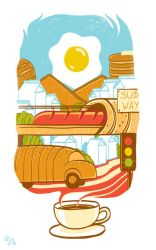 Another Day (Breakfast City) by rhobdesigns