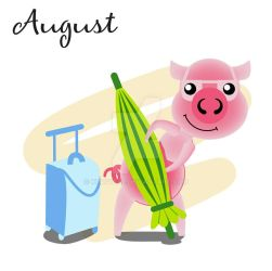 Piggy for every month in 2019 August by Krav1tzz