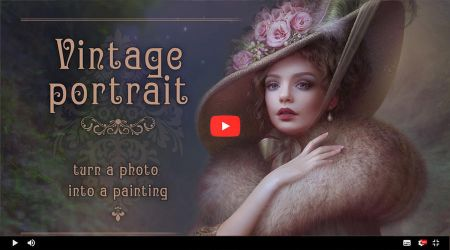 Video tutorial Vintage Portrait by cornacchia-art