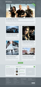 Chronology WordPress Theme Design by SyloGraphix