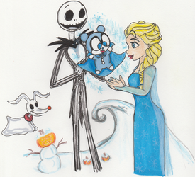 Pumpkin King and Snow Queen by KessieLou