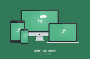 Don't Kill Trees Wallpaper 5120x2880px by dpcdpc11