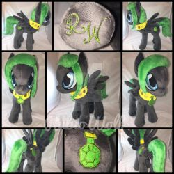 MLP 13 inch OC 'Lightwing' Plushie .:Commission:. by RubioWolf