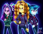 The Dazzlings Rock In Rainbow Rocks by Aurora-Chiaro