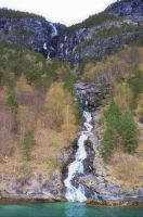A waterfall into fjord 1 by Furuhashi335