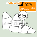 YCH Halloween Chibi #2 - candy corn by anineko