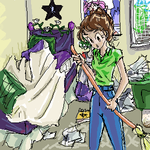 cleaning the emi room by emi-chan
