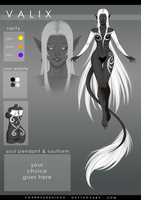 (closed) Auction Adopt - Valix 135 by CherrysDesigns