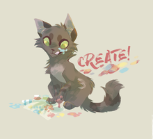 Creative Cat || Available on Redbubble! by ShwiftyBird