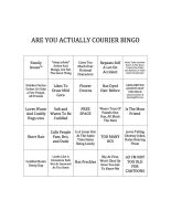 ARE YOU ACTUALLY COURIER BINGO by CottonCandyCookies