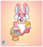 Kawaii Happy Easter Bunny by KawaiiUniverseStudio
