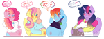 the 4 pregnant mothers of harmony by karsisMF97