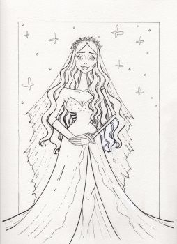 Inktober Day 10- The Corpse Bride  by jenc