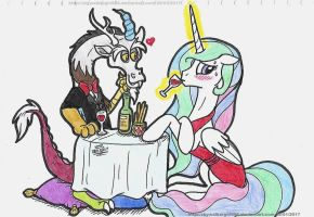 Dinner date With Chaos by artistNJC