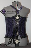 Deviant chainmaille corset top (back view) by DeviantChainMaille