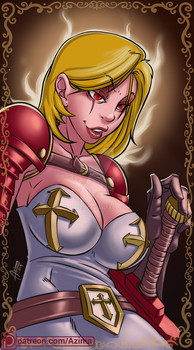 Crusader girl is comming for sinners )