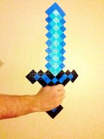 Diamond Sword- Minecraft by xXXxNightShadexXXx