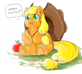 Fluffy Applejack by marcusmaximus