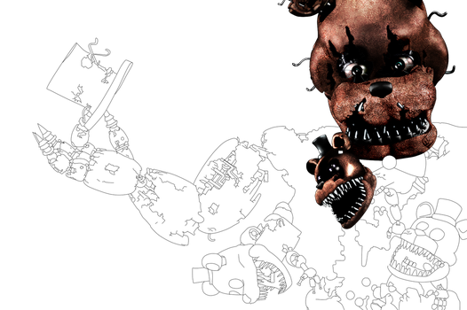 FNAF 4 - Teaser(WIP?) Unfinished project by Christian2099